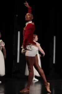 Mamela Nyamza deconstructs the balletic body in The Last Attitude, choreographed with Nelisiwe Xaba. Photo credit: John Hogg.