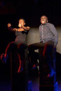 Stella Dlangalala and Tyson Ngubeni perform in Blue. Photo credit: Cuepix/ Madeleine Chaput.