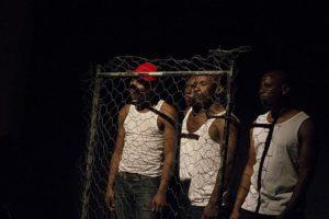 The cast of Ubuze Bam in performance. Photo: CuePix/Jodi Jansen van Vuuren.